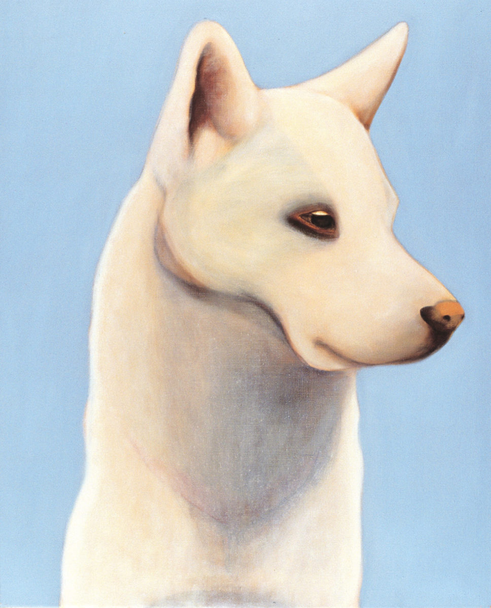 Wolfje, 2001, oil on linen, 100 x 80 cm